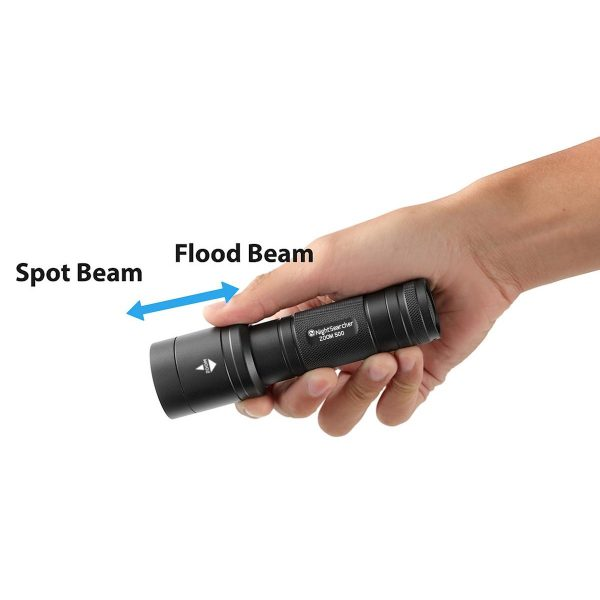 Nightsearcher Zoom 500 Spot to Flood, LED Torch
