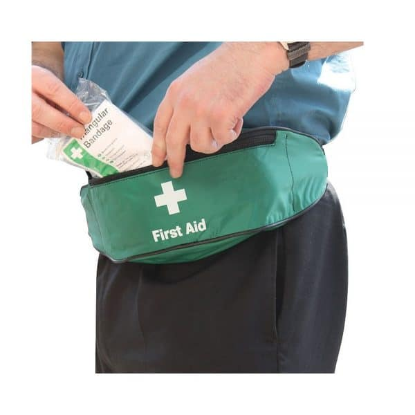 HSE_Lone_Worker_First_Aid_Kit_in_bum_bag_on_hipphoto