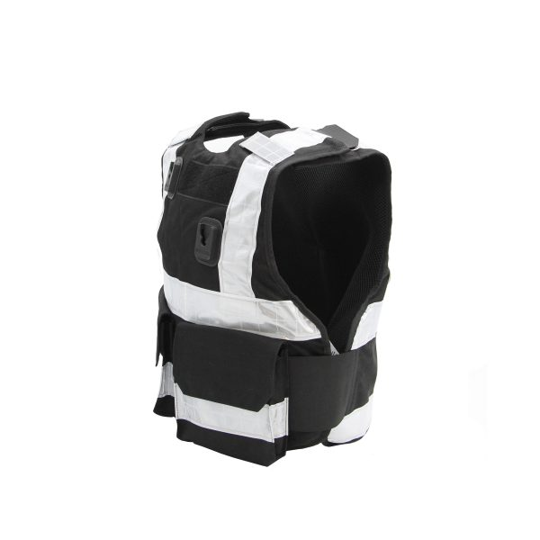PPSS Black Stab Vest with Reflective Strips (KR1 SP1)
